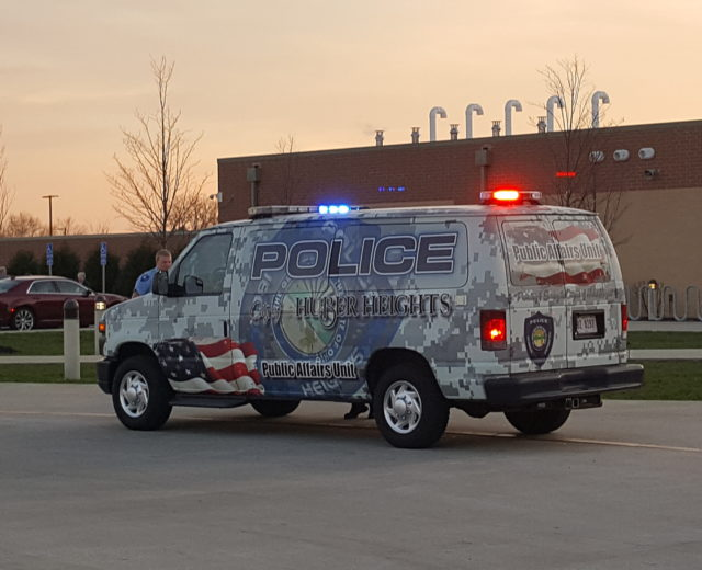 Huber Heights Police Public Affairs Vehicle