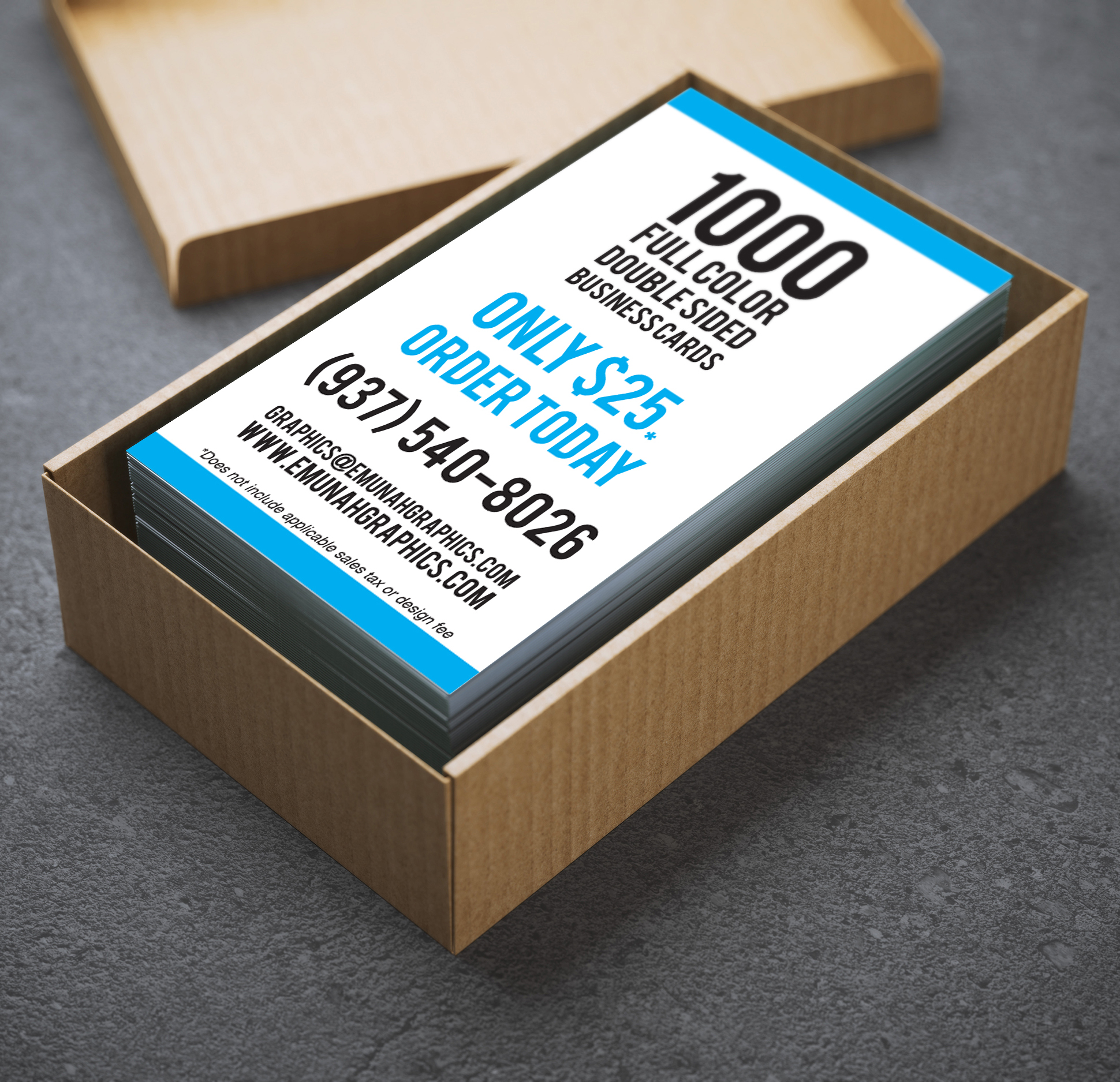 Get 1000 Full-color, double-sided business cards starting as low as $25!