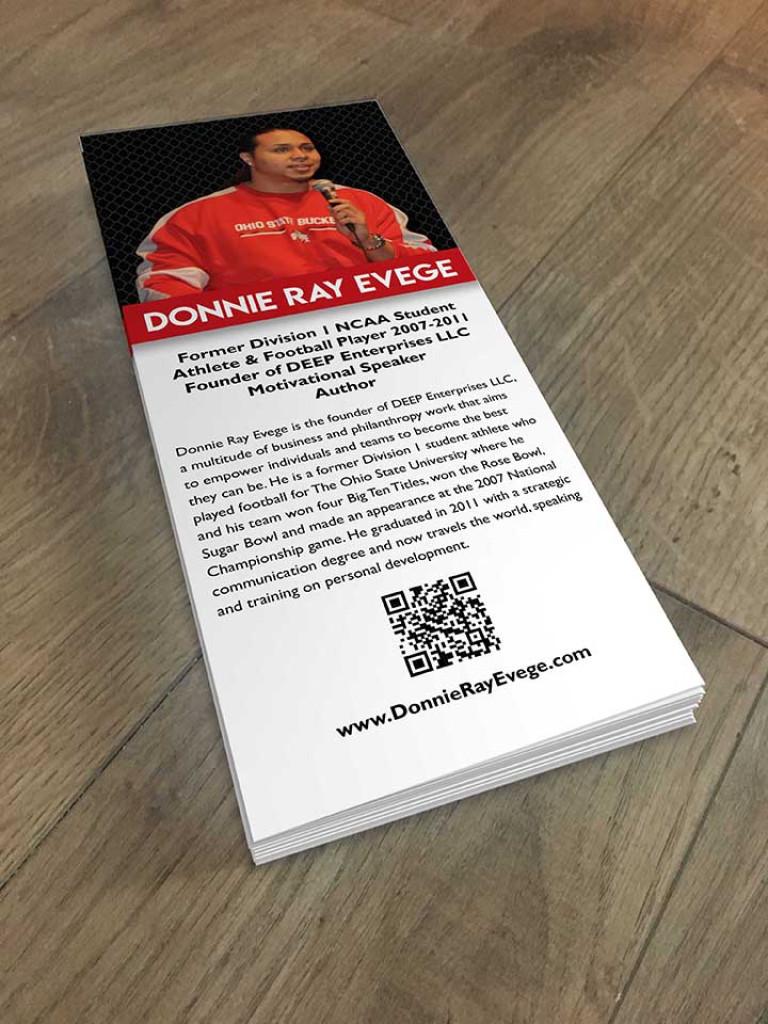 Donnie Ray Evege Rack Card