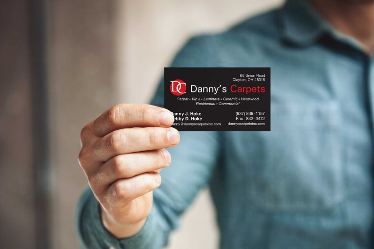 Danny's Carpets Foil Business Cards