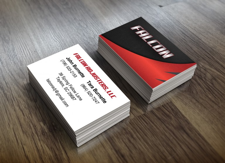 Falcon Adjusters Business Cards